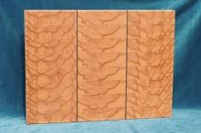 Modell 7: Schneidebrett Kernbuche mit Nußbaumstreifen