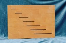 Modell 4: Schneidebrett Buche mit Nußbaumeinlagen in Treppenform