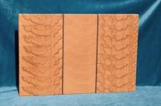 Modell 5: Schneidebrett Kernbuche, Buche mit Nußbaumstreifen