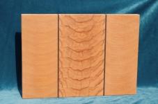 Modell 6: Schneidebrett Buche, Kernbuche mit Nußbaumstreifen
